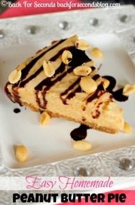 Easy Homemade Peanut Butter Pie {Gluten Free}