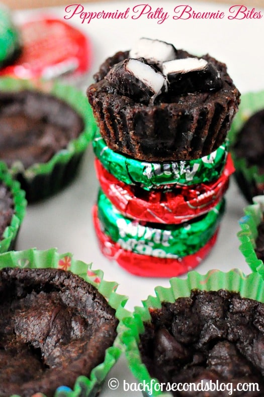 Double Chocolate Peppermint Brownie Bites - Fudgy, minty heaven! http ...