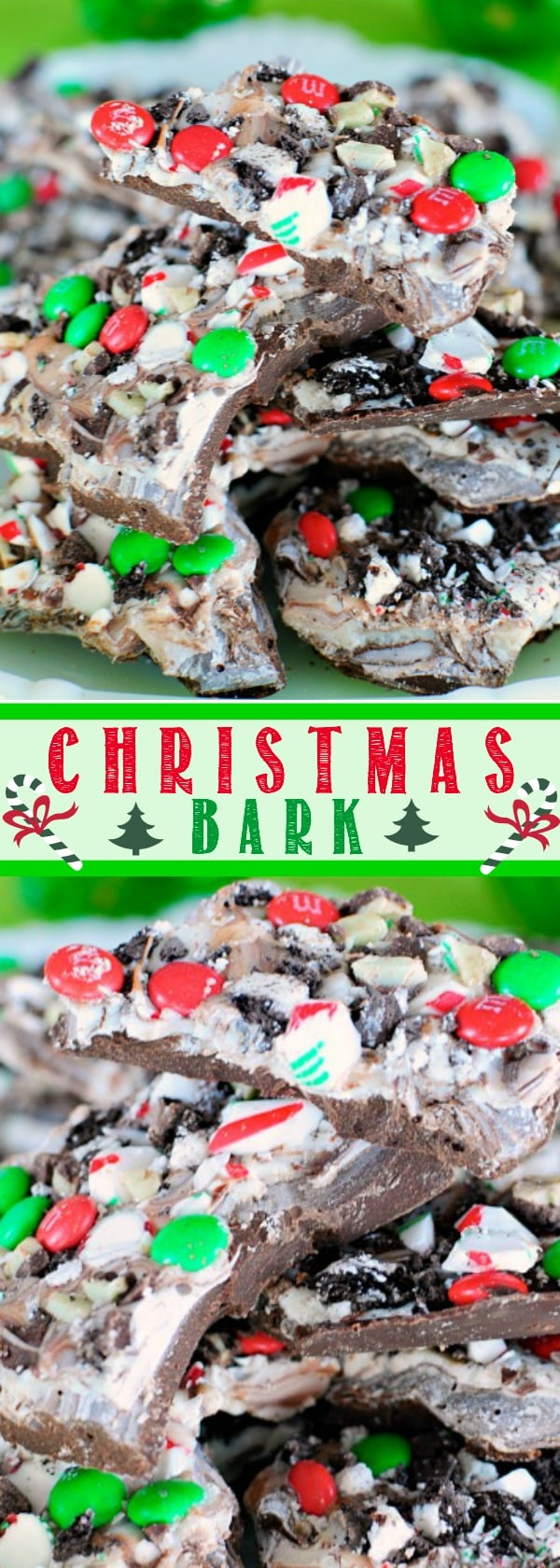 Easy Christmas bark a no bake, easy, red and green Christmas candy that everyone loves!