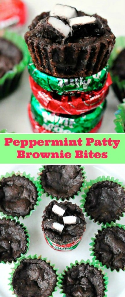 Peppermint Patty Brownie Bites