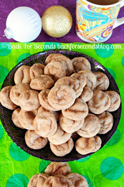 How to Make Thick, Soft, and Chewy Snickerdoodles - These are the BEST EVER!! http://backforsecondsblog.com #christmascookie #snickerdoodles #dessert