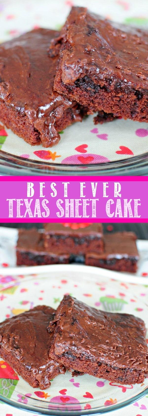 Best EVER Texas Sheet Cake!!