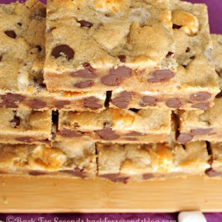 Fluffernutter CHocolate Chip Cookie Bars