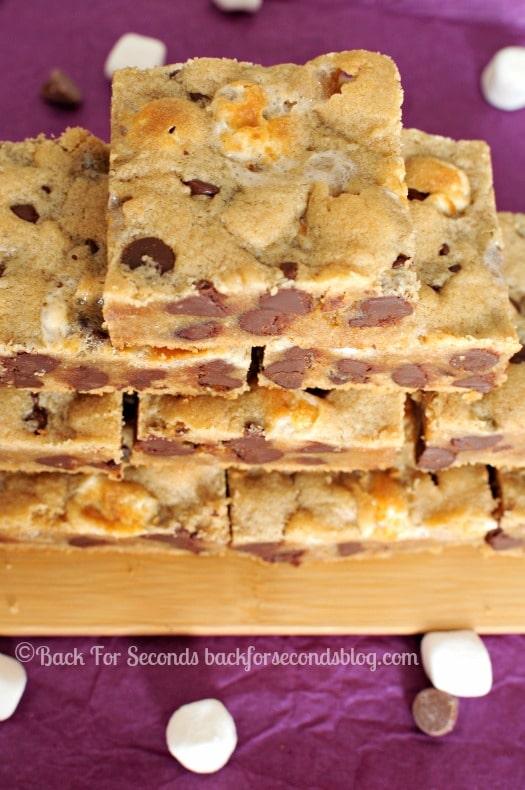 Fluffernutter CHocolate Chip Cookie Bars