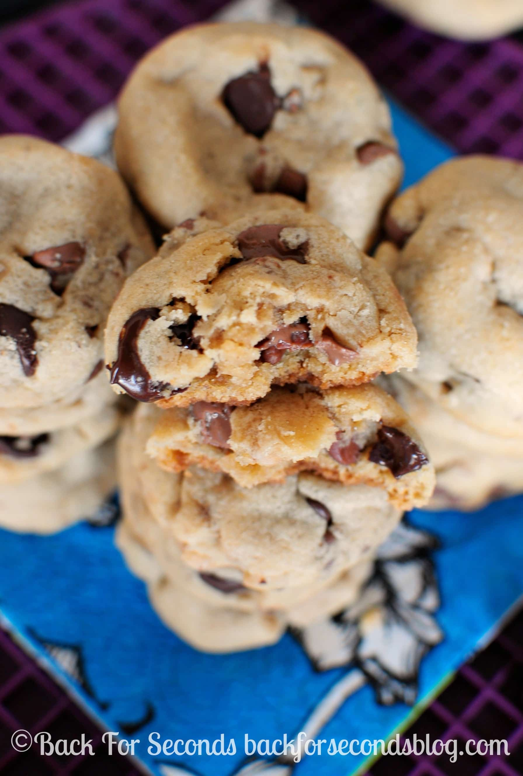 Soft and Chewy Peanut Butter Toffee Cookies - Back for Seconds