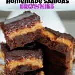 Homemade Samoas Brownies