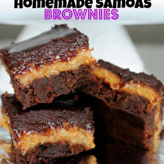 Homemade Samoas Brownies