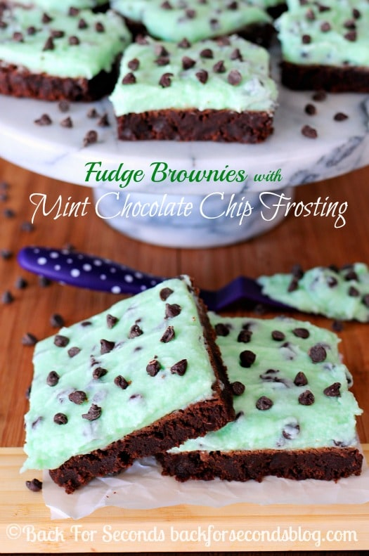 Best Fudge Brownies Recipe with Mint Frosting