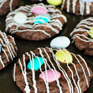 Chocolate M&M Cookies