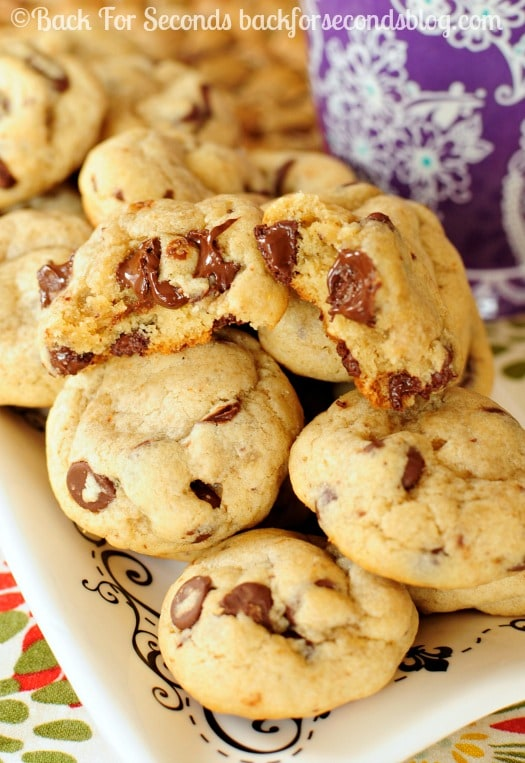 Mocha Chip Cookies - Thick, Soft, and perfectly Chewy!  #cookies #coffee #chocolate