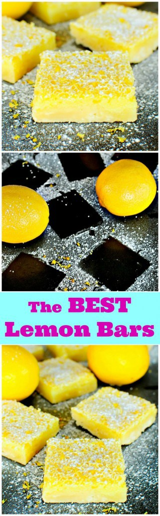The BEST Lemon Bars EVER - everyone who tries these wants the recipe!