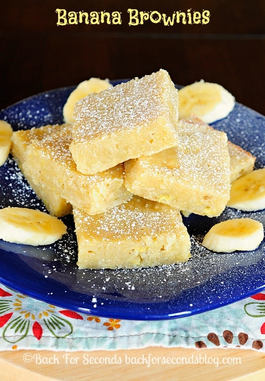You will go bananas over this Banana Brownie Recipe!! SO Good! #brownies #bananabrownies #dessert