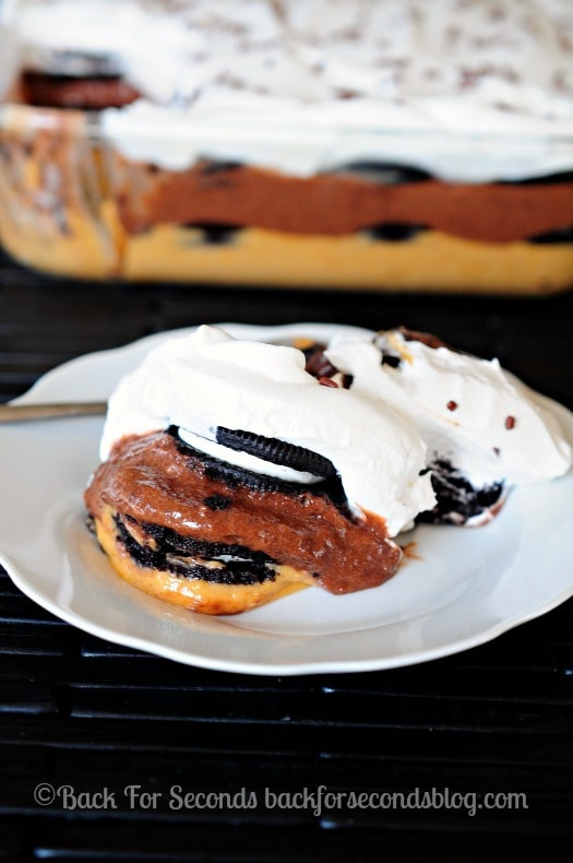 The BEST Icebox Cake - this was gone in a flash!!! #BrewItUp #BrewOverIce #oreos #coffee #shop