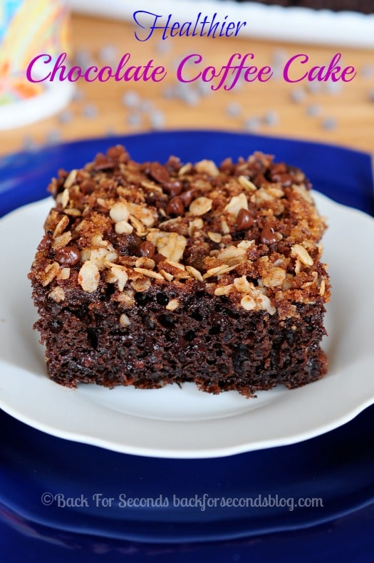 Chocolate Cake Recipe without the guilt! SO moist and chocolatey! #chocolate #coffeecake #healthydessert