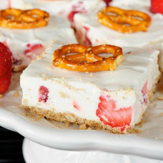 No Bake Strawberry Bars Recipe FG