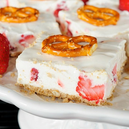 Strawberry Pretzel Bars - Back for Seconds