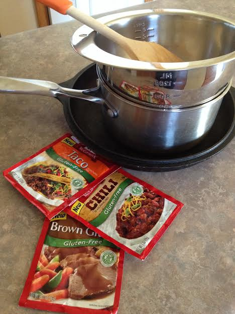 Cooking with McCormick gluten-free mixes