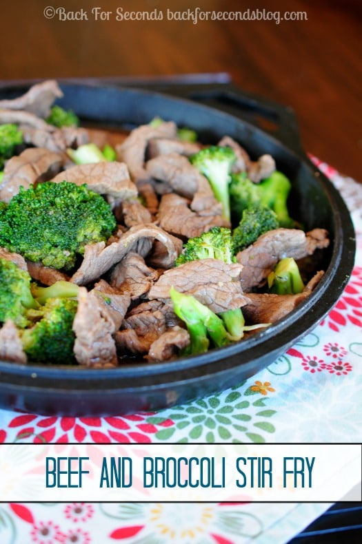 Beef and Broccoli Stir Fry - 20 minutes ans dinner is done! #beef #broccoli #stirfry