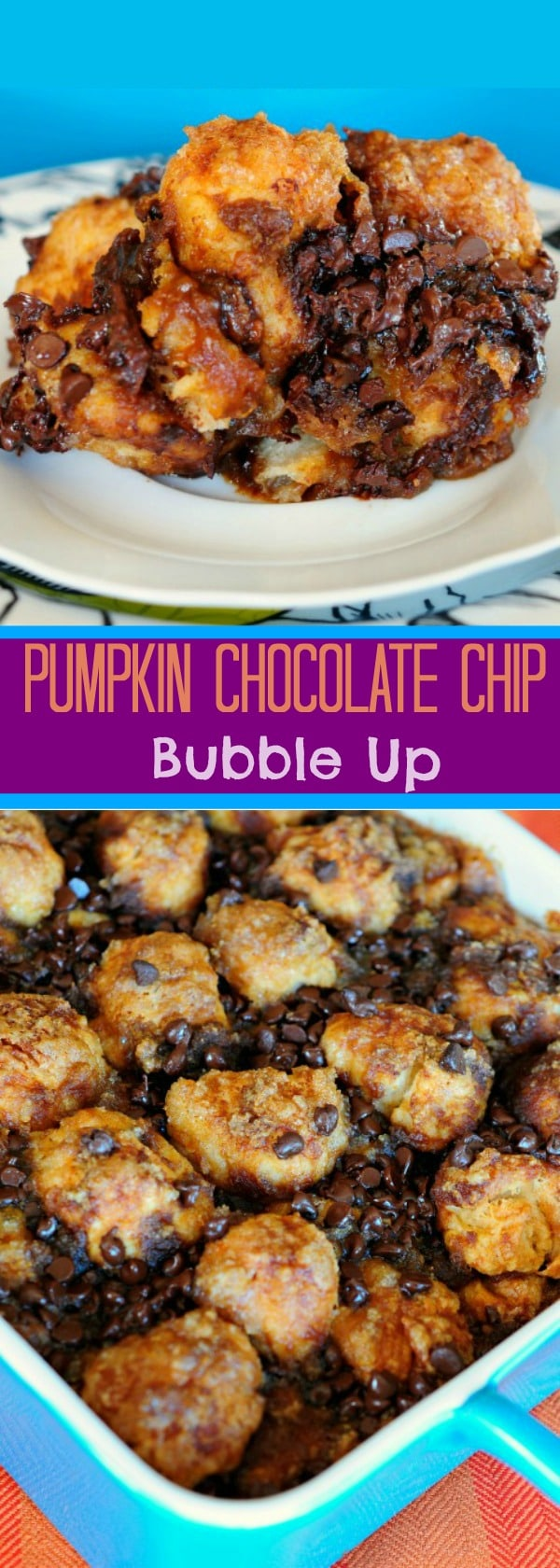 Pumpkin Chocolate Chip Bubble Up Bake