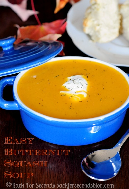 Brown Butter Butternut Squash Soup  -  Quick and easy fall comfort food! #soup #fallrecipe