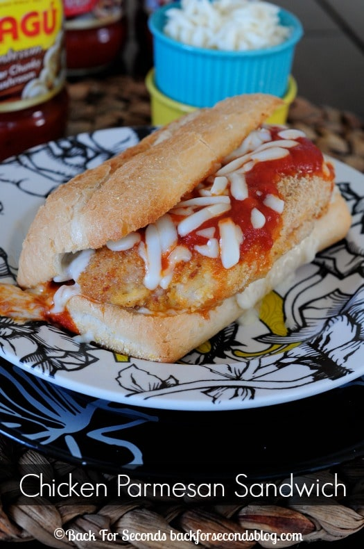 Easy Chicken Parmesan Sandwiches! These are awesome! #footballfood #chicken #NewTradish