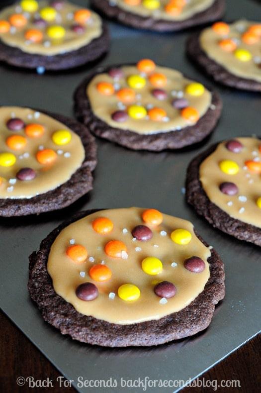 Salted Caramel Reeses Cookies