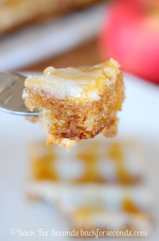 Amazing Apple Sheet Cake with Caramel Cream Cheese Frosting