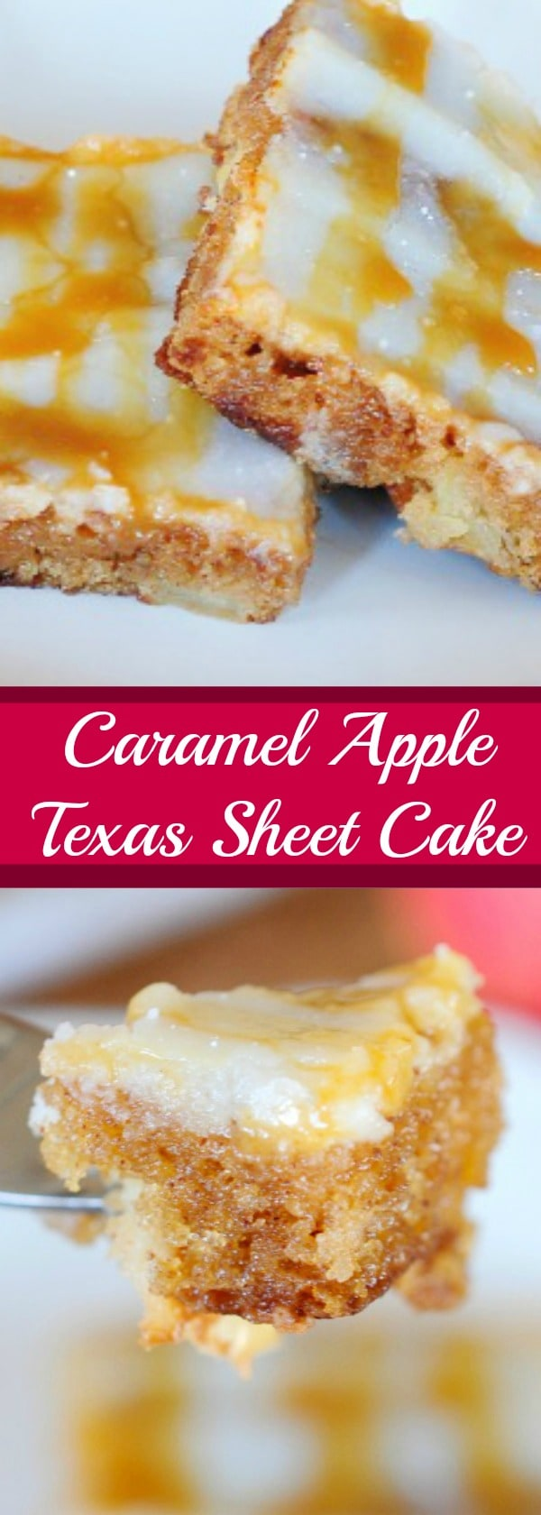 Caramel Apple Texas Sheet Cake