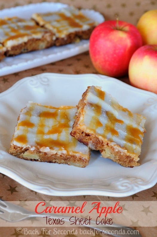 Caramel Apple Texas Sheet Cake - Everyone need to try this cake!!