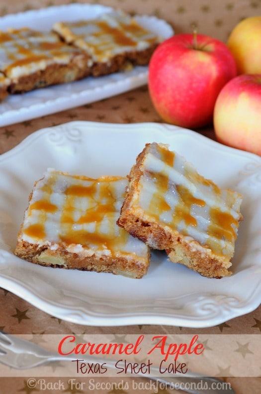 Caramel Apple Texas Sheet Cake Recipe