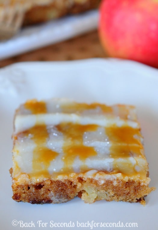 Caramel Apple Texas Sheet Cake with Caramel Cream Cheese Icing - AMAZING!