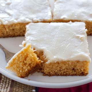 Easy Eggnog Texas Sheet Cake FG