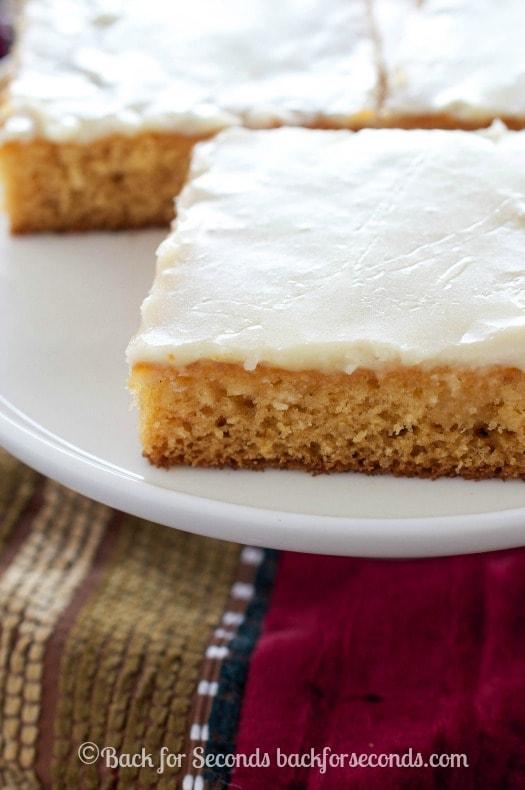 Eggnog Sheet Cake with Eggnog Icing - HOLY YUM!