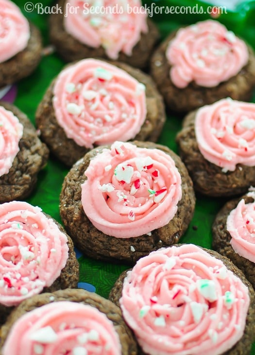 Peppermint Mocha Christmas Cookies with Candy Cane Frosting