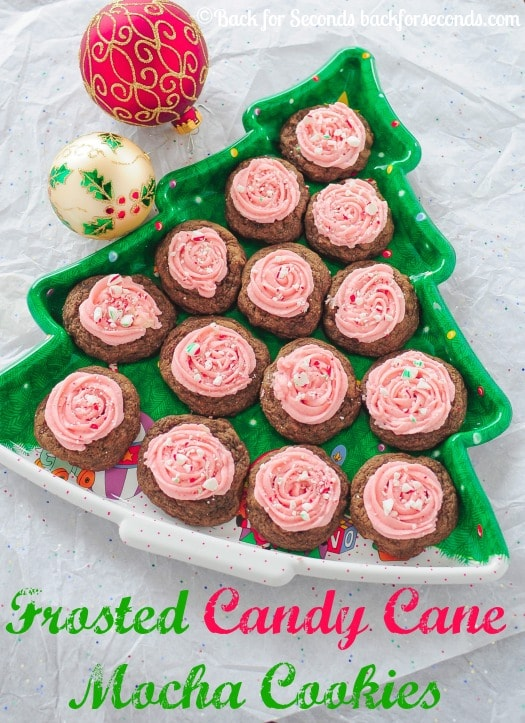 Frosted Candy Cane Mocha Cookies - A new Christmas favorite!