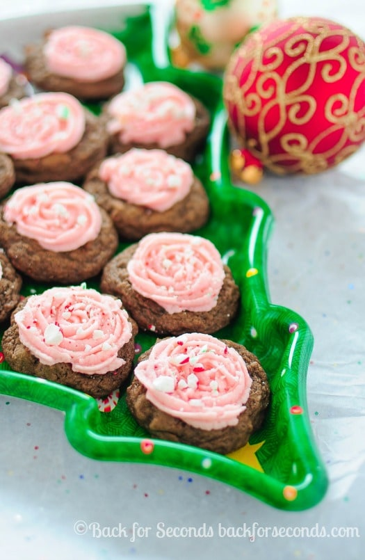 Frosted Peppermint Mocha Cookies - A new Christmas Cooke Tradition!