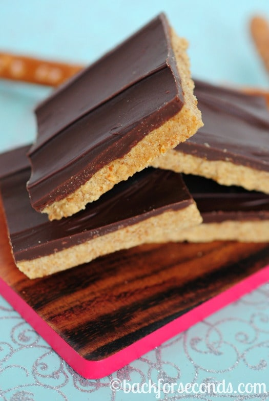 How to make Peanut Butter Cup Bars with Pretzels