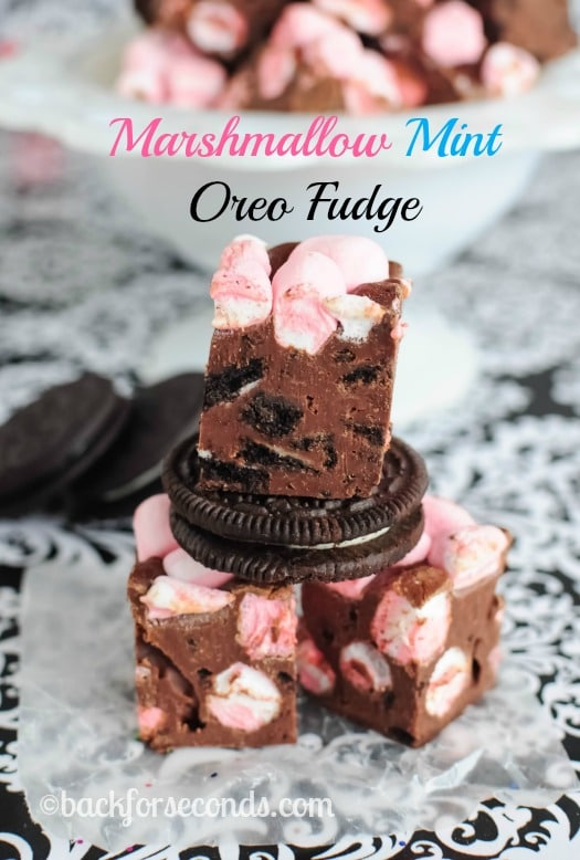 Marshmallow Mint Oreo Fudge Recipe