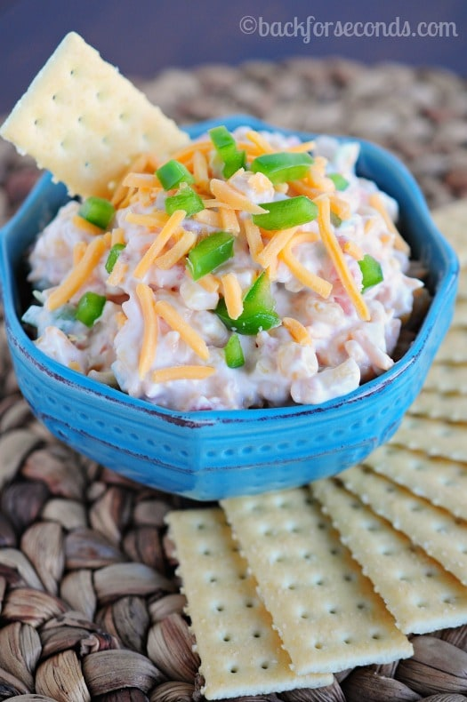 Cheesy Corn Dip - Great Party Food, appetizer, or snack!