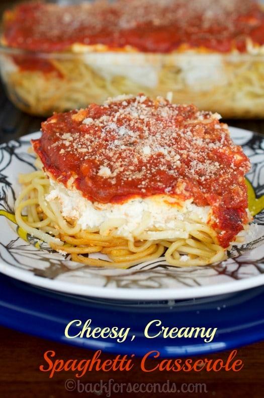 Creamy Cheesy Spaghetti Casserole Recipe