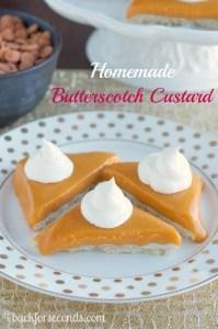 Homemade Butterscotch Custard