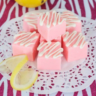 Easy Pink Lemonade Fudge