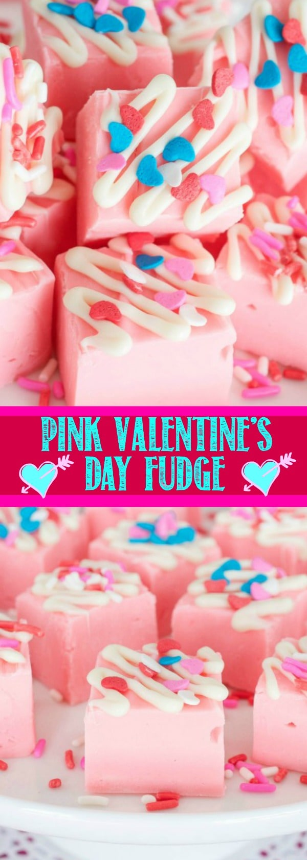Pink Sprinkle Valentine's Day Fudge