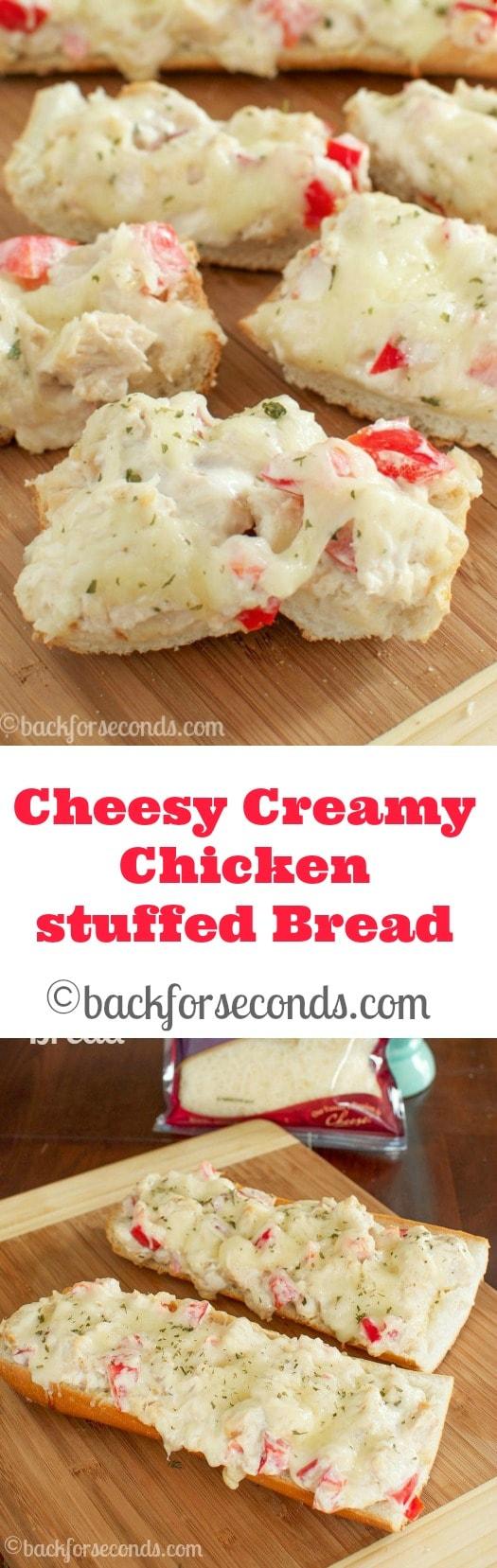 Cheesy, Creamy Chicken Bread - AMAZING!!!