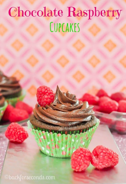 Chocolate Raspberry Cupcakes from Scratch - These are AMAZING! Perfect for Valentine's Day