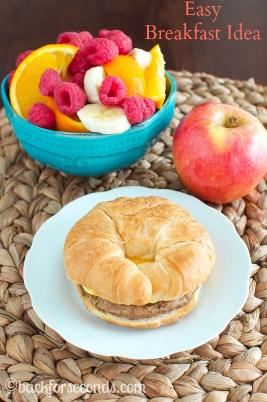 Easy Breakfast Sandwich with Protein - great for busy mornings!