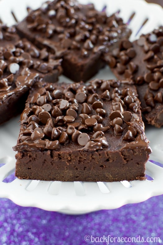 Healthier Fudge Brownies made with NO Butter!!