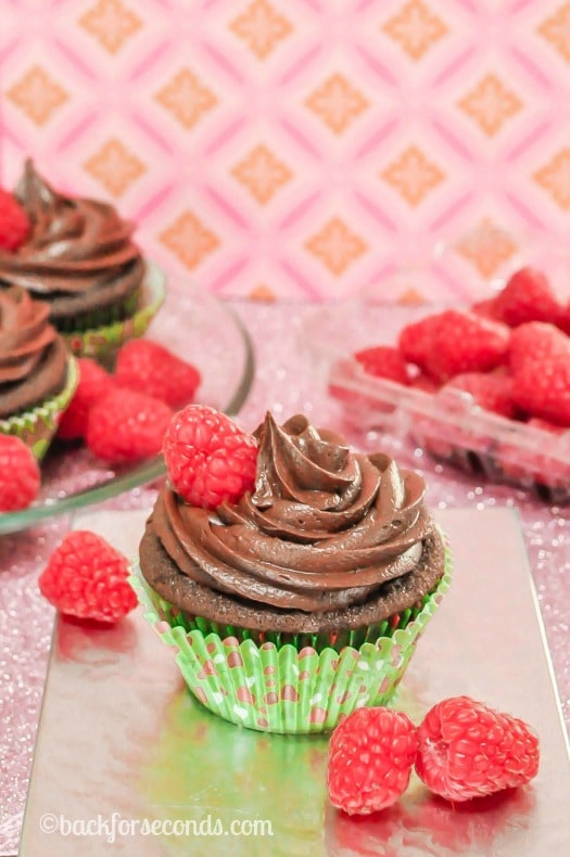 Homemade Chocolate Raspberry Cupcakes