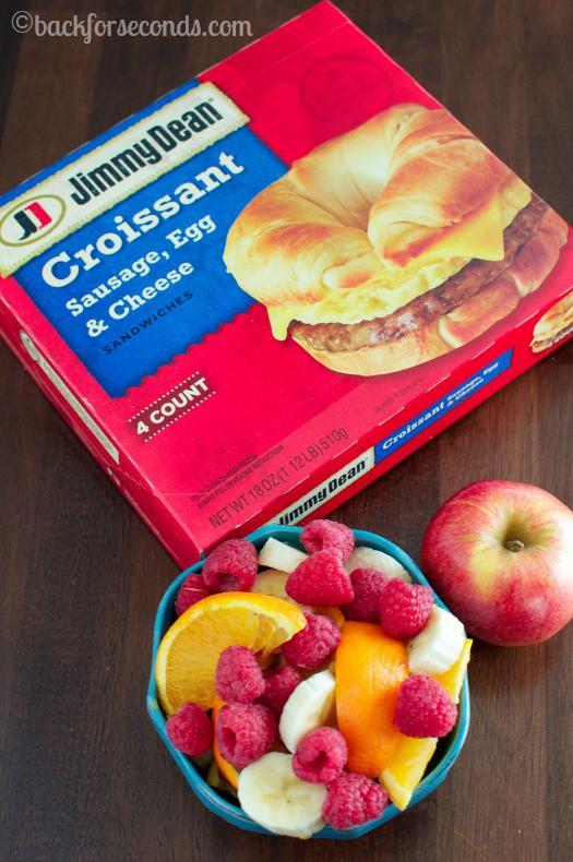 Jimmy Dean Croissant for breakfast