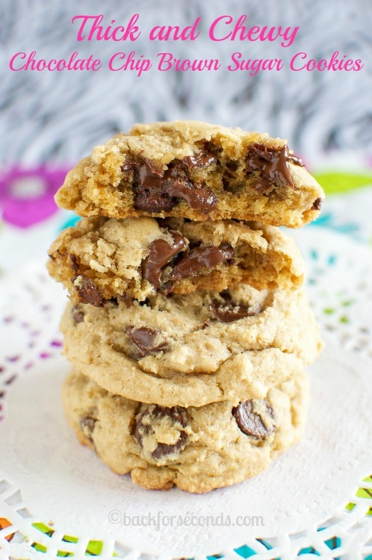 Chewy Chocolate Chip Brown Sugar Cookies